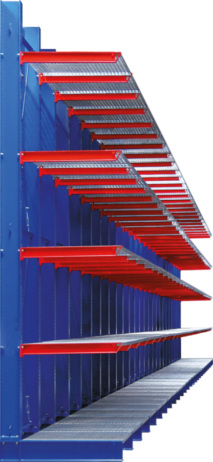 Picture of a cantilever rack